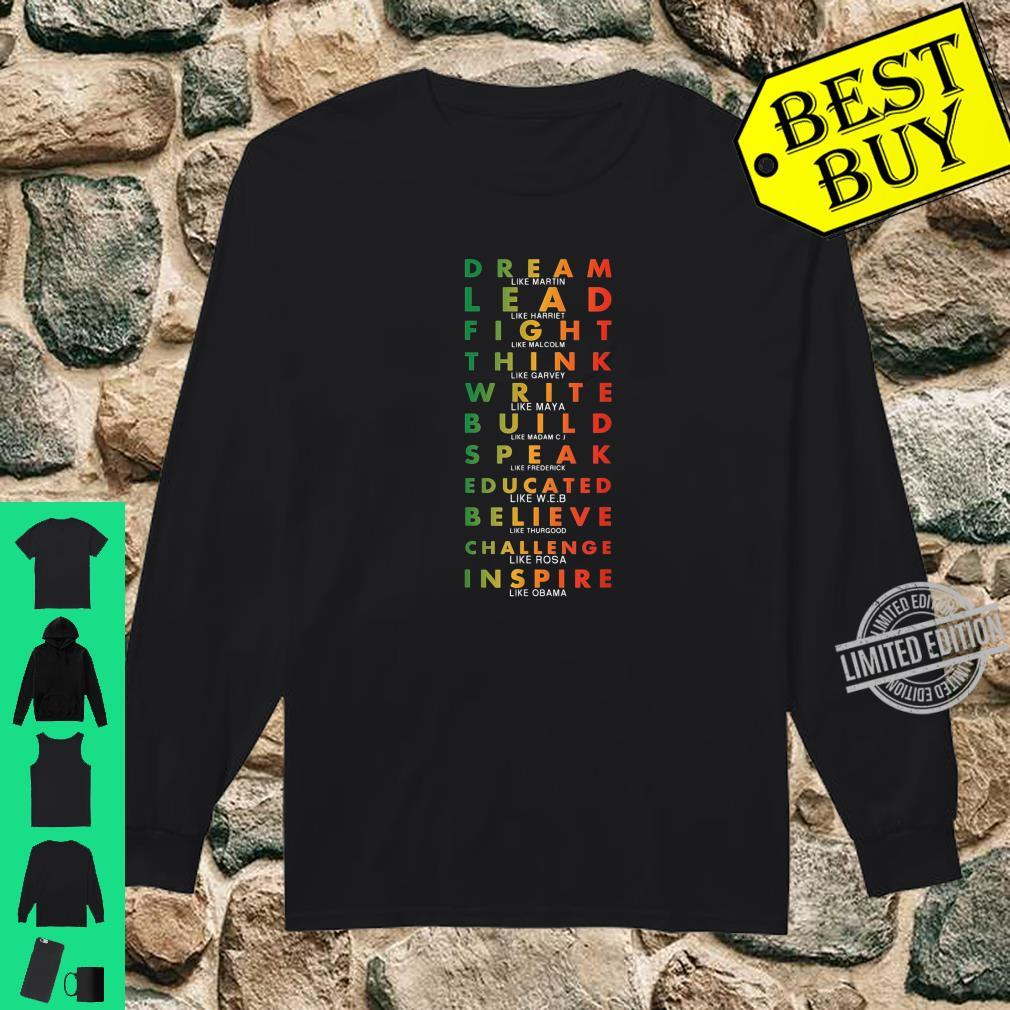 Black Pride African American History Month Shirt long sleeved
