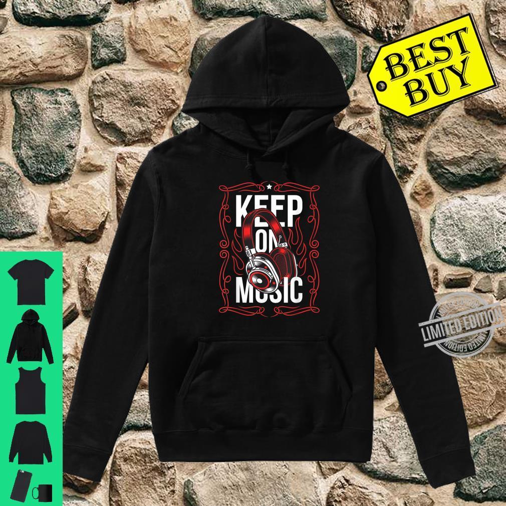 Bleiben Sie auf dem Musik Red Ornament Headset Streetwear Shirt hoodie