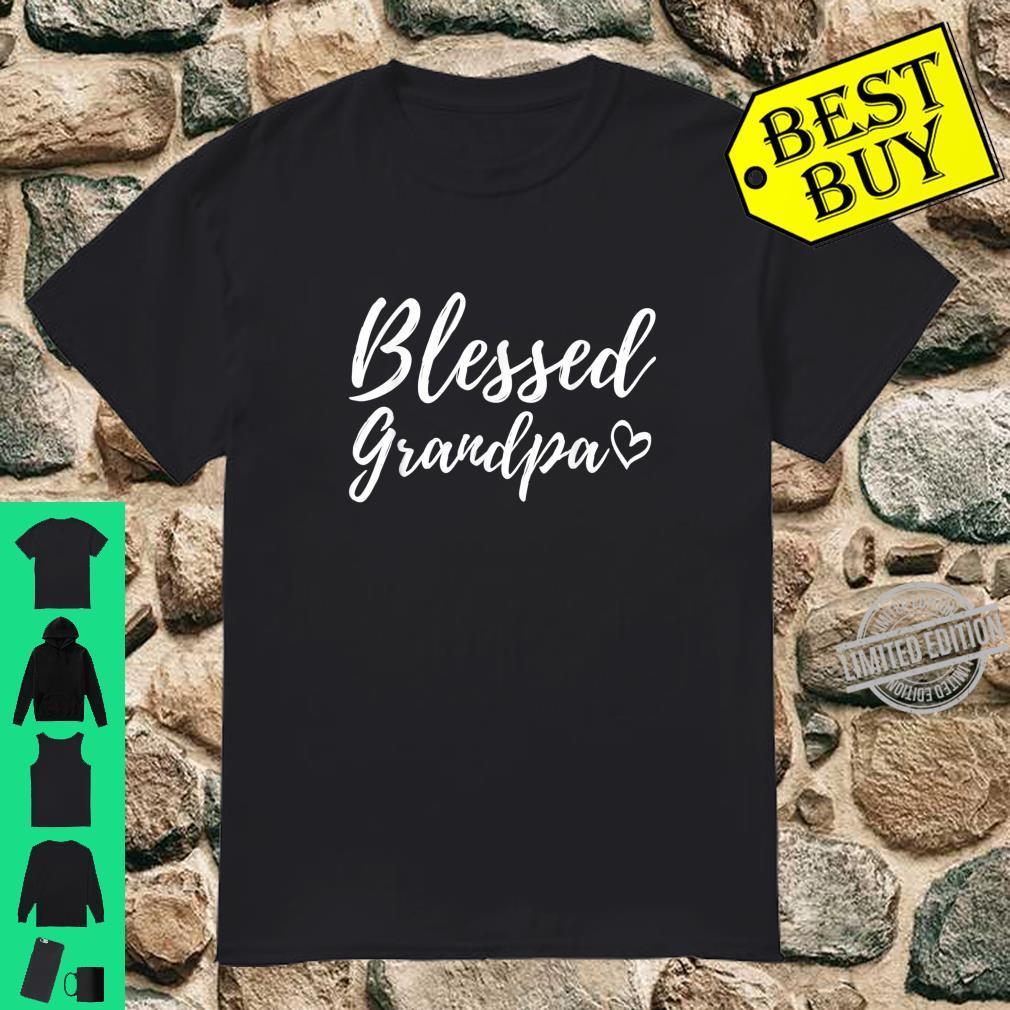 Blessed Grandpa Shirt Christmas Grandpa Family Matching Shirt