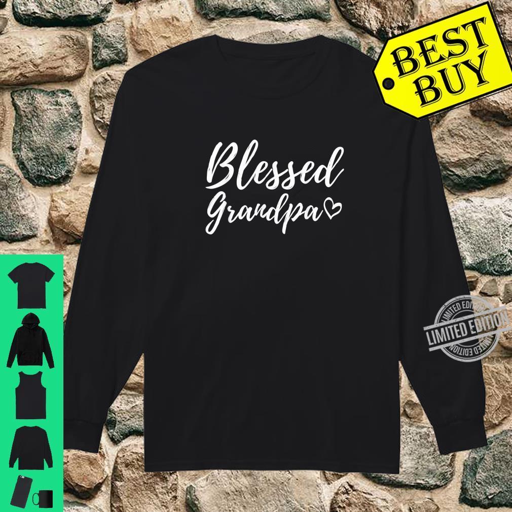 Blessed Grandpa Shirt Christmas Grandpa Family Matching Shirt long sleeved