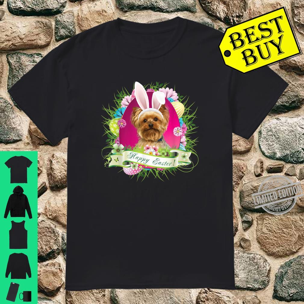 Bunny Yorkshire Terrier Dog Happy Easter Day Egg Hunt Shirt