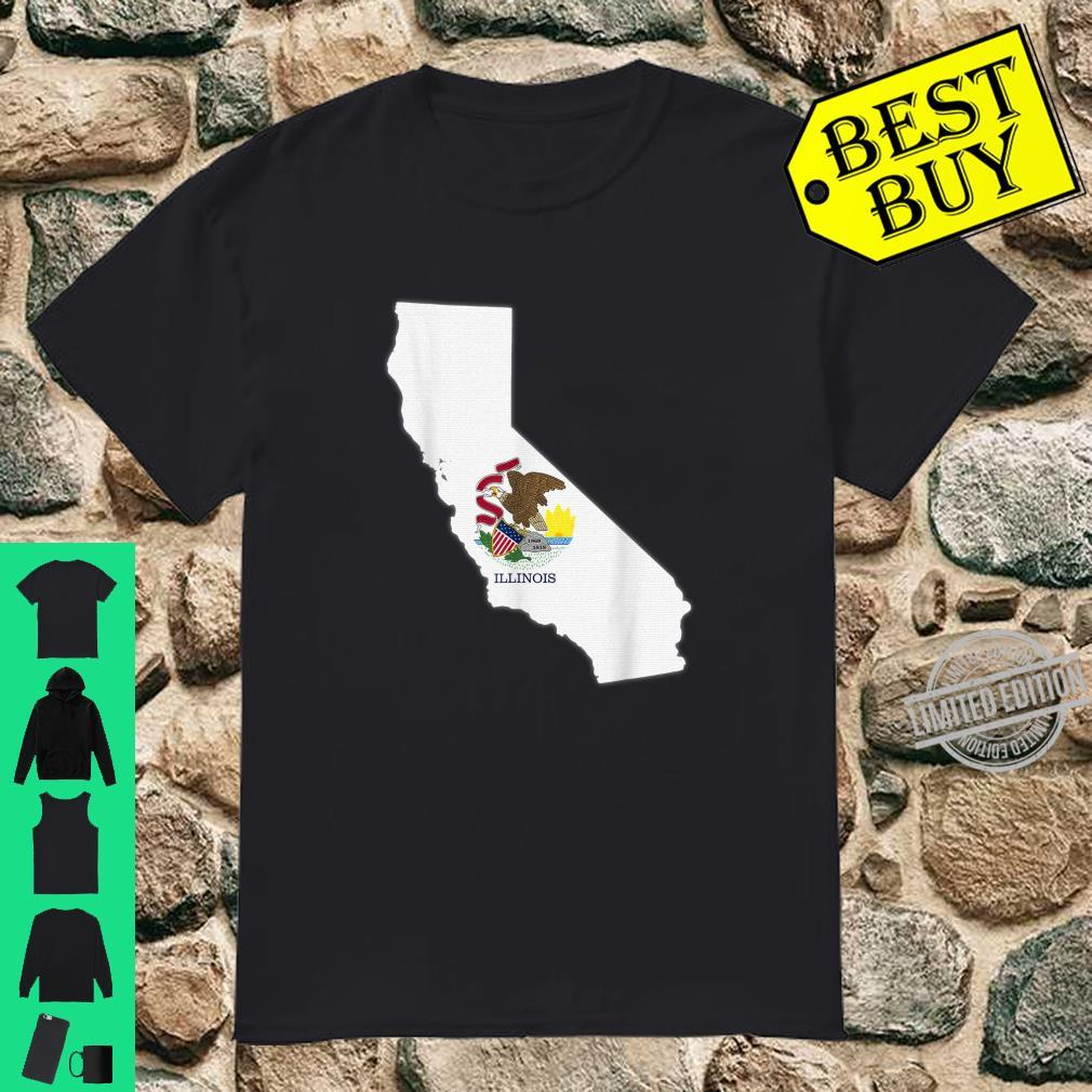 CALIFORNIA STATE MAP ILLINOIS IL Flag Roots Shirt