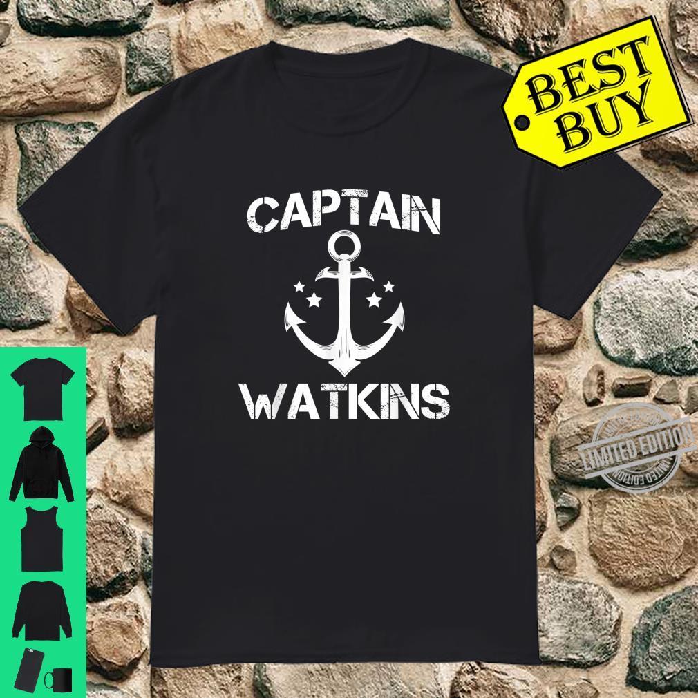CAPTAIN WATKINS Birthday Personalized Surname Shirt