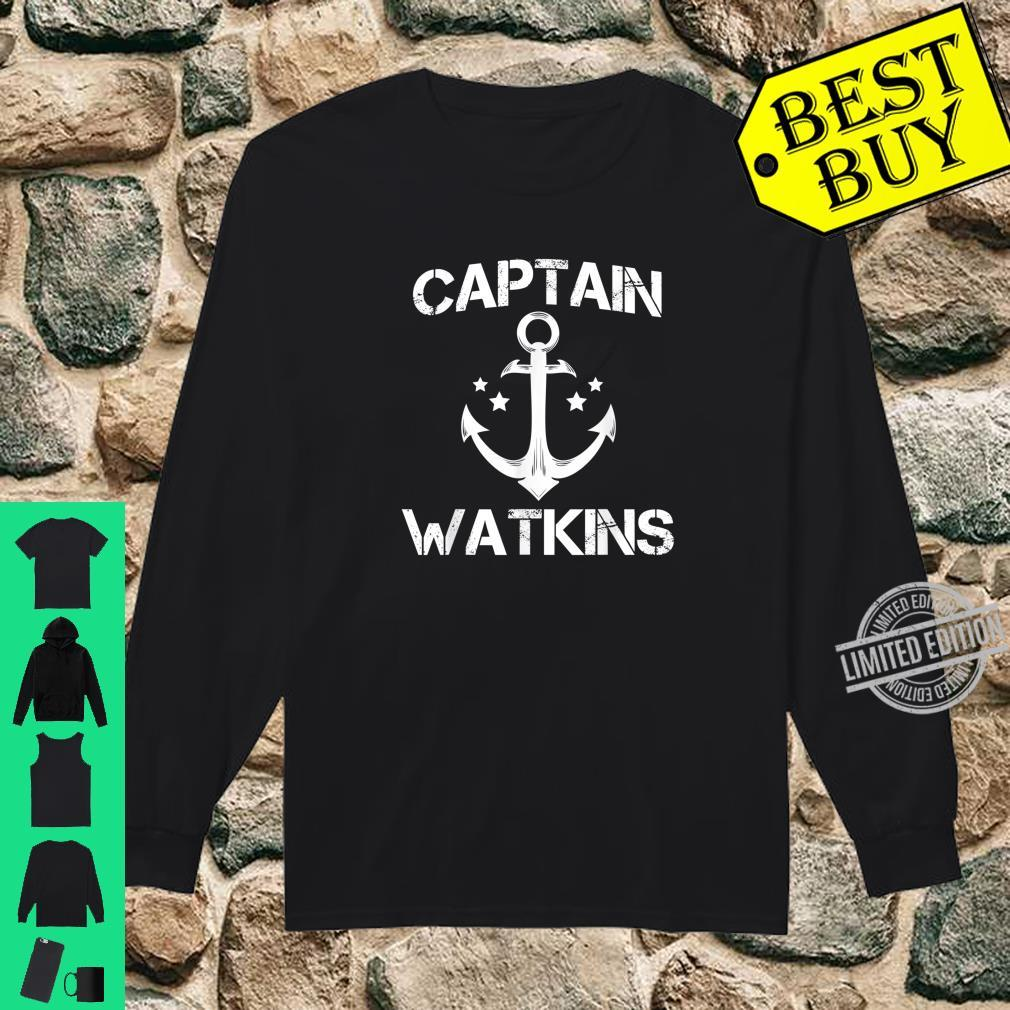 CAPTAIN WATKINS Birthday Personalized Surname Shirt long sleeved