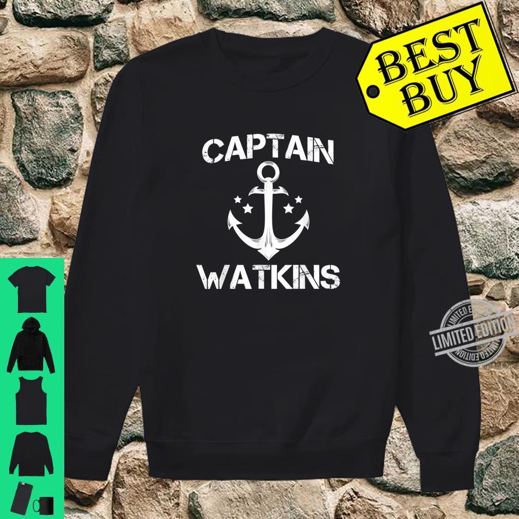 CAPTAIN WATKINS Birthday Personalized Surname Shirt sweater