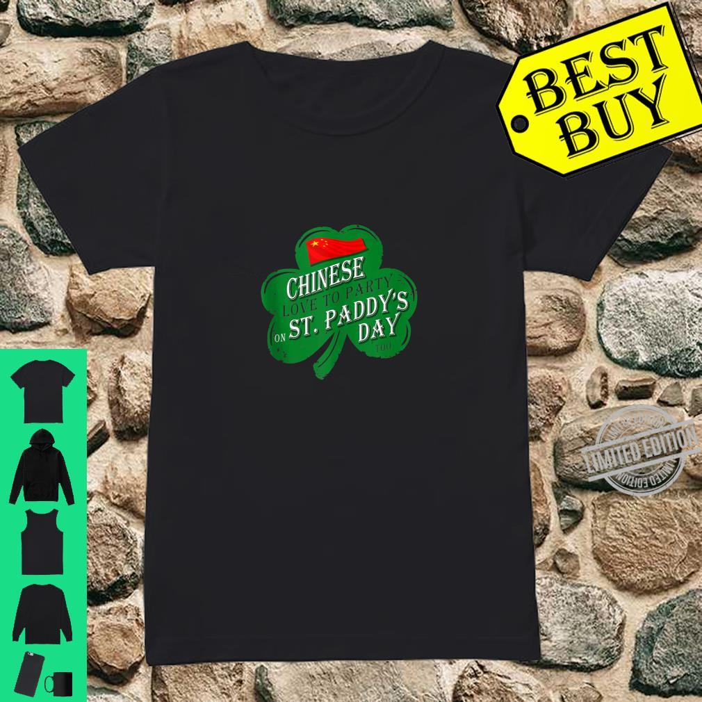 CHINESE love to party on St Paddys day 2020 Shirt ladies tee
