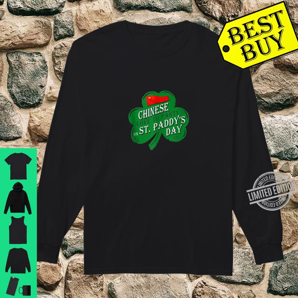 CHINESE love to party on St Paddys day 2020 Shirt long sleeved