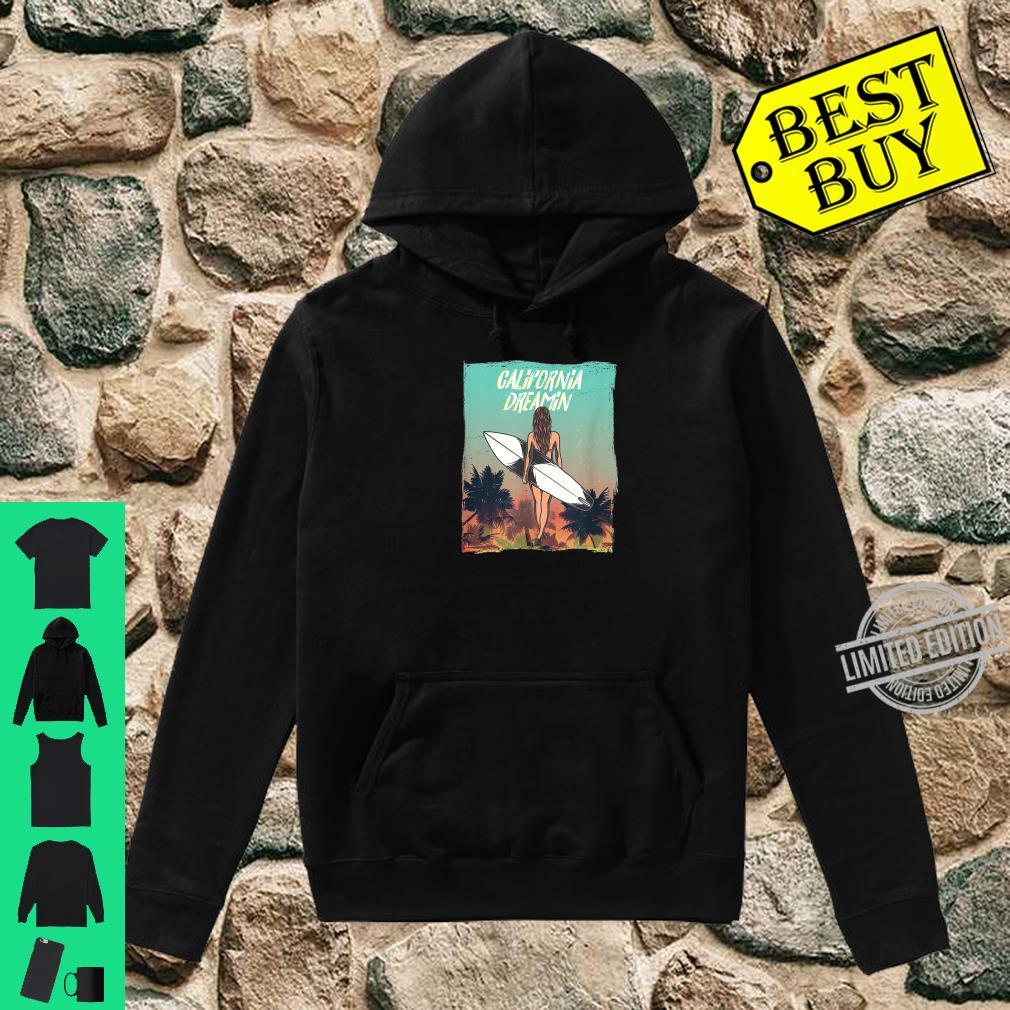 California Dreaming with surfer girl and Palm trees Shirt hoodie