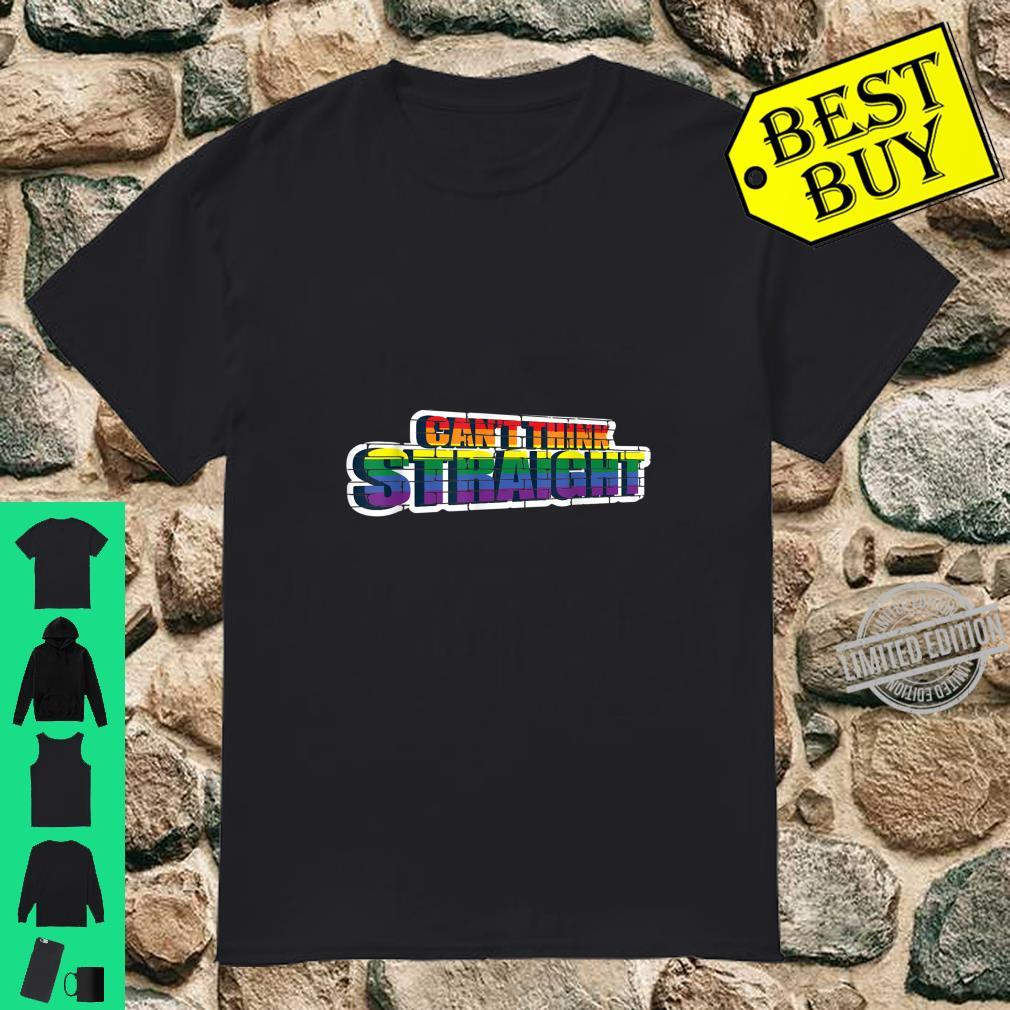 Can't Think Straight Transgender Or Bisexual Shirt