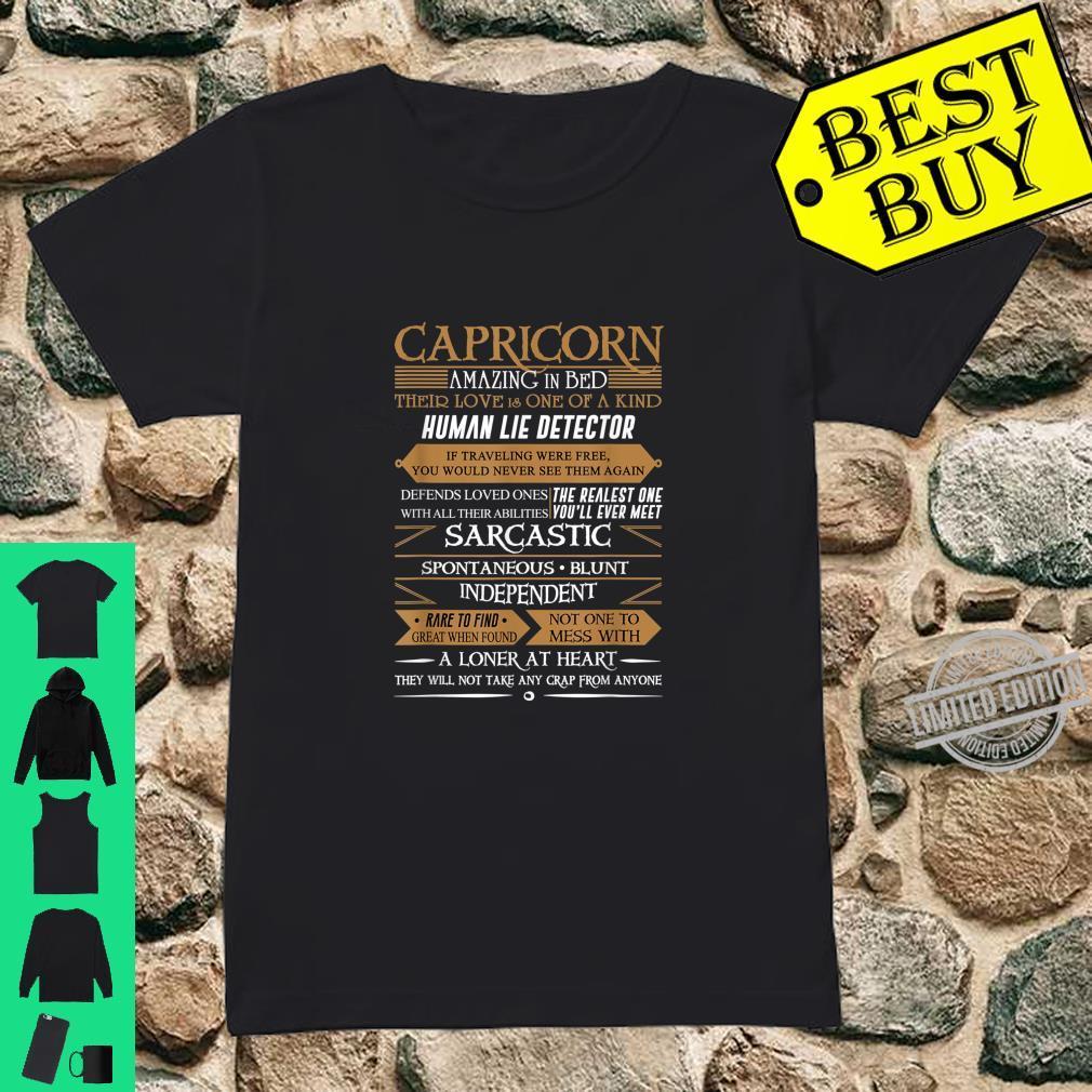 Capricorn Sign January February Birthday Shirt ladies tee