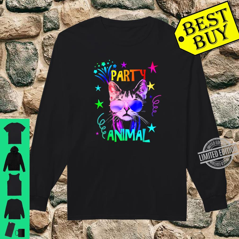 Cat Cool Party Animal Shirt long sleeved