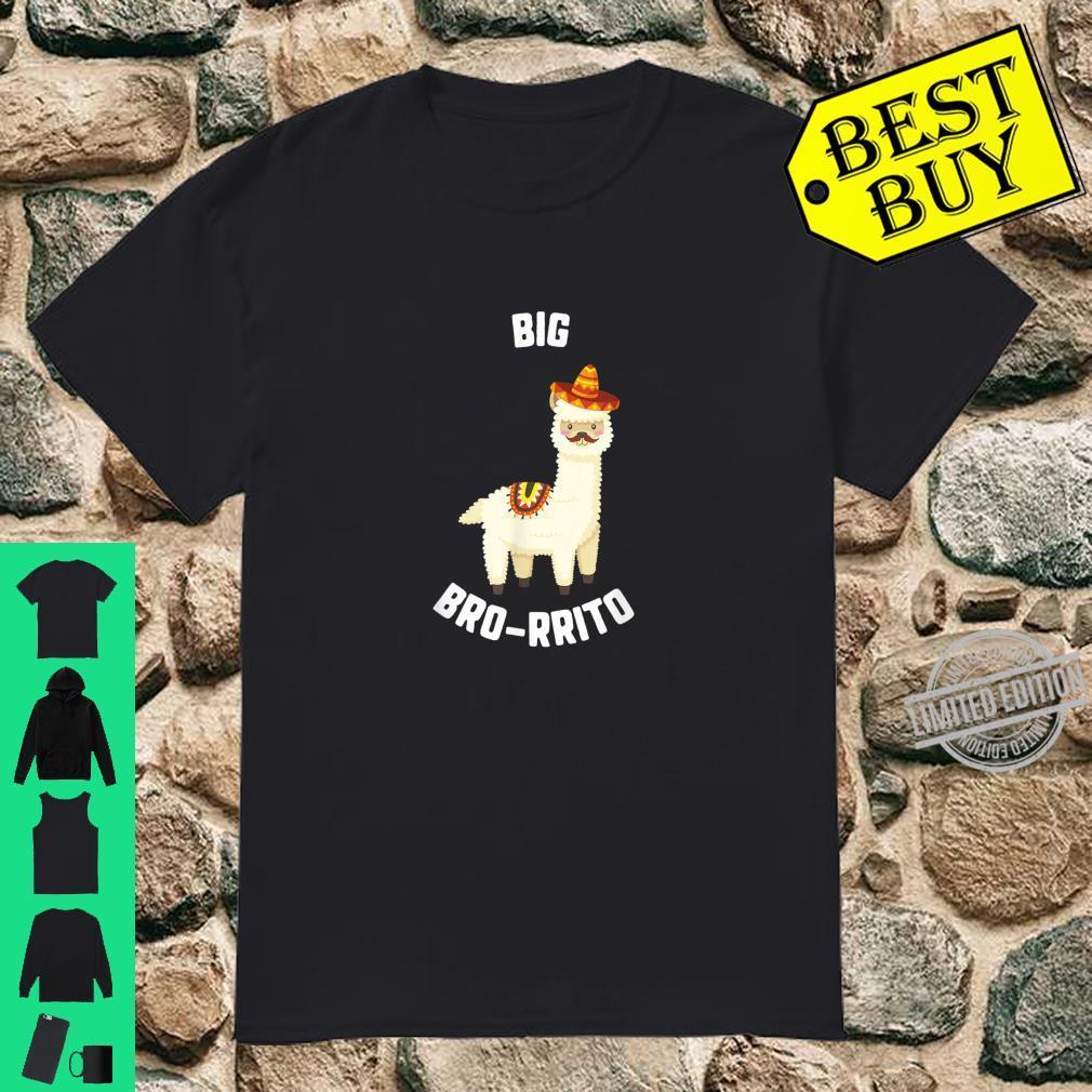Cinco De Mayo Big Bro Rrito Llama Sombrero Mustache Taco Shirt