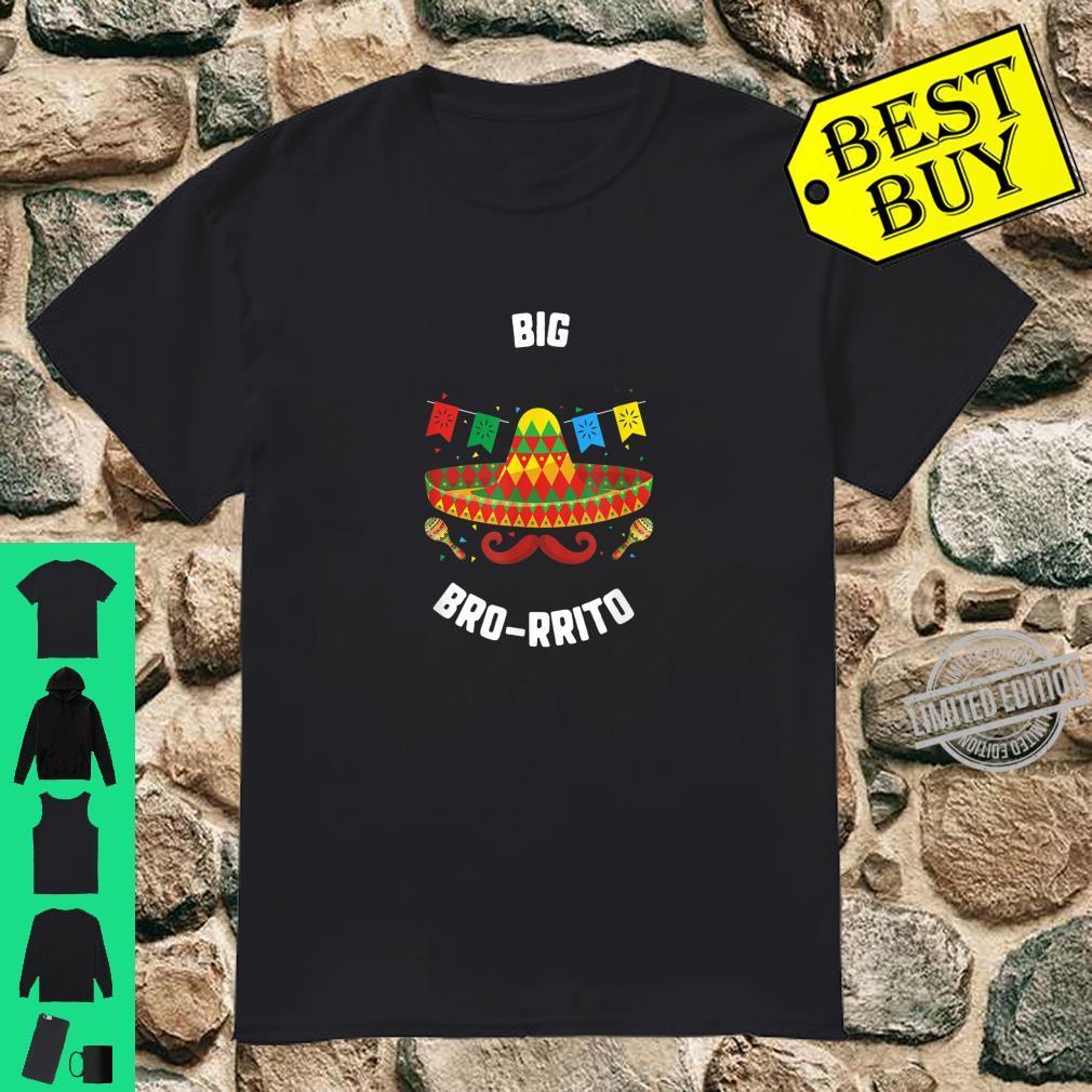 Cinco De Mayo Big Bro Rrito Sombrero Mustache Fiesta Taco Shirt