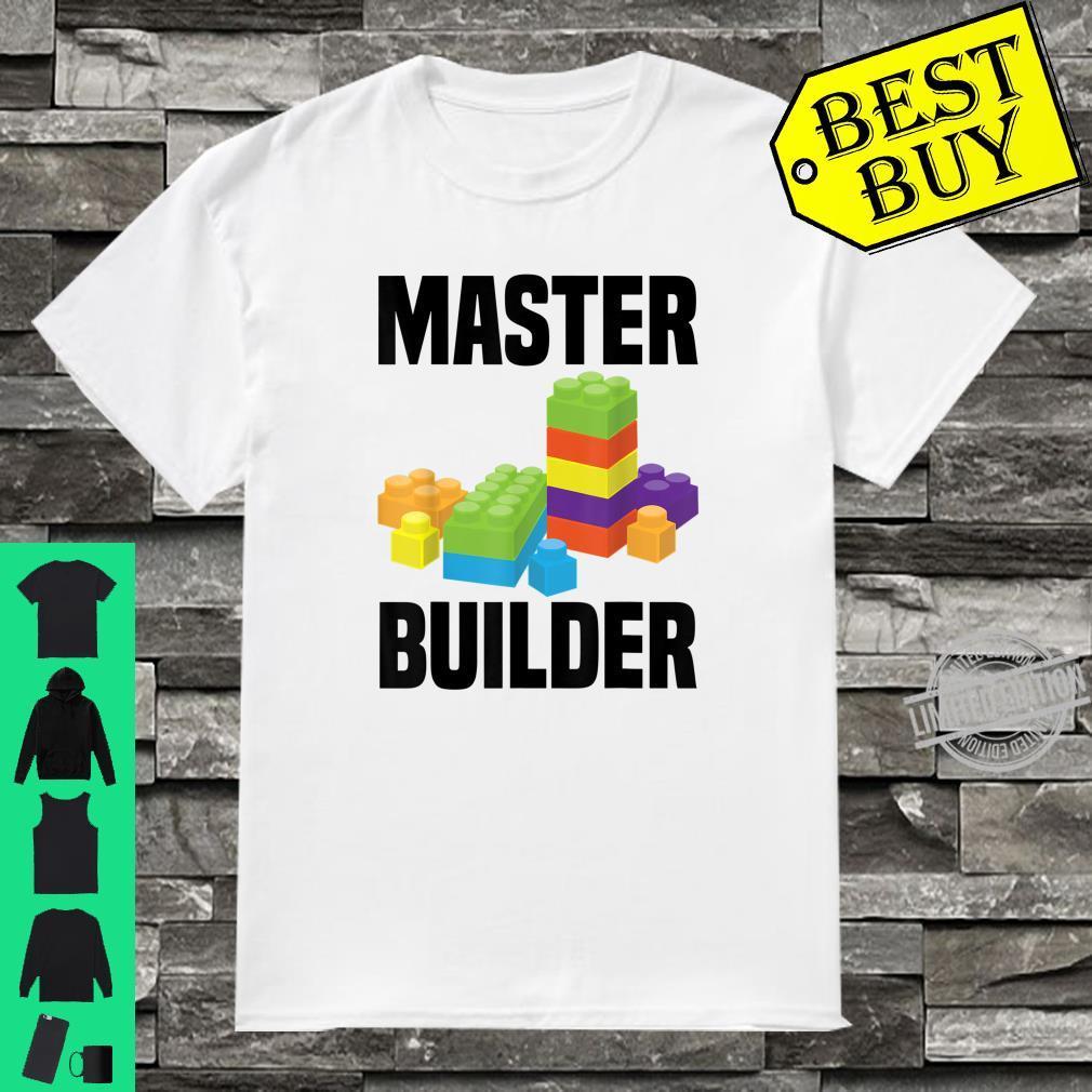 Cool Master Builder Building Blocks Shirt