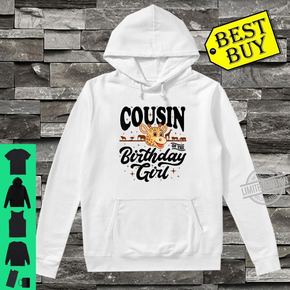 Cousin of the Birthday Girl cute jungle safari animals Shirt hoodie