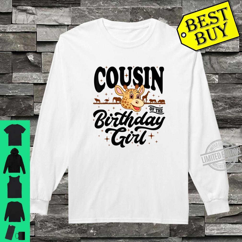Cousin of the Birthday Girl cute jungle safari animals Shirt long sleeved