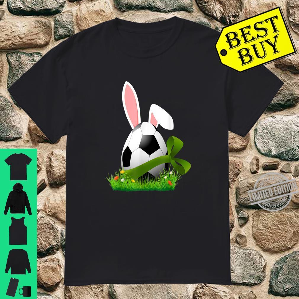 Cute Easter Soccer Bunny Ears Egg Easter Shirt