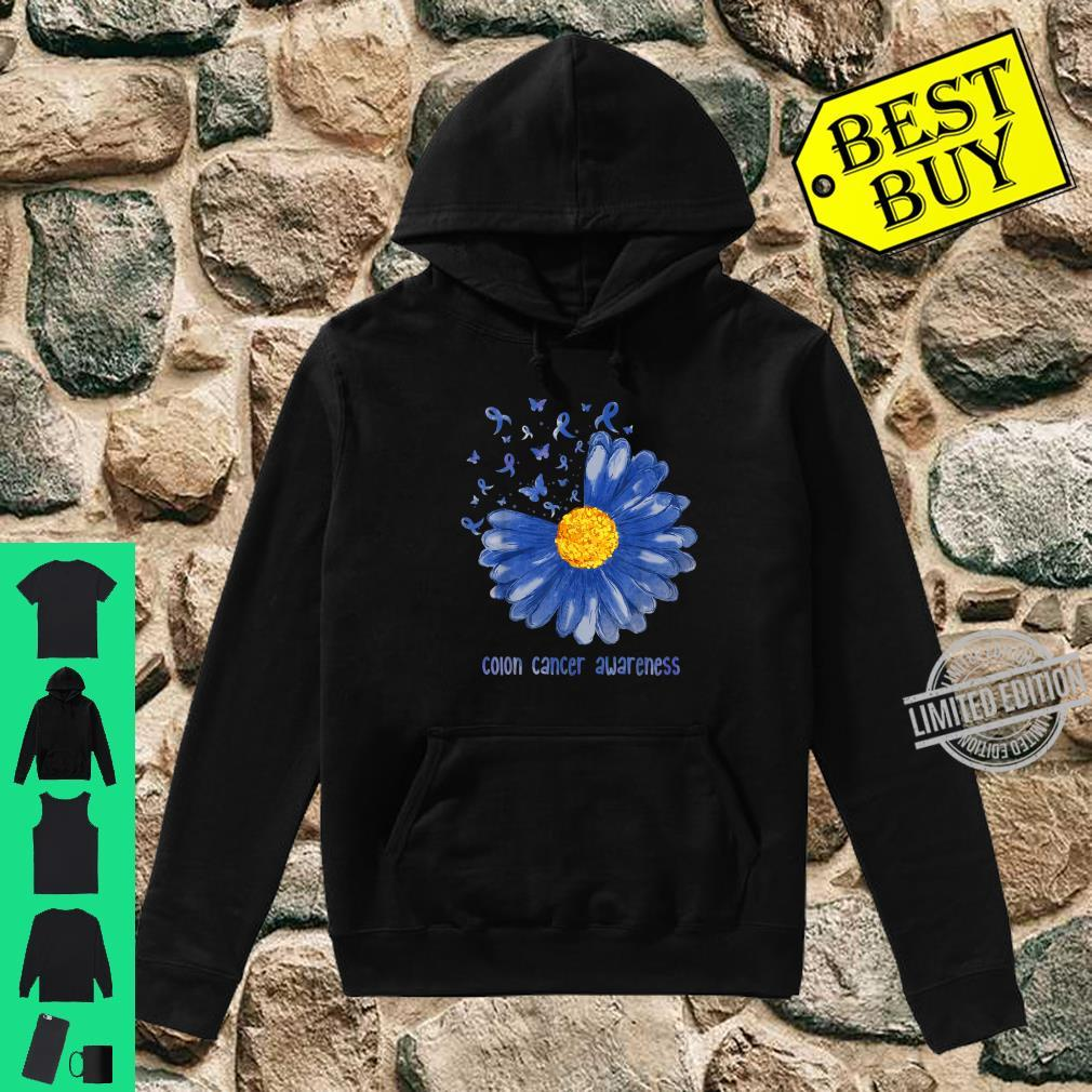 Daisy Butterfly Blue Ribbon Colon Cancer Awareness Shirt hoodie