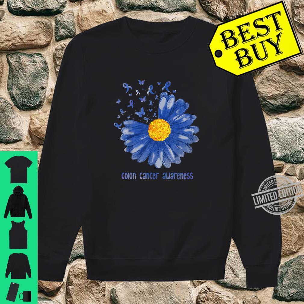 Daisy Butterfly Blue Ribbon Colon Cancer Awareness Shirt sweater