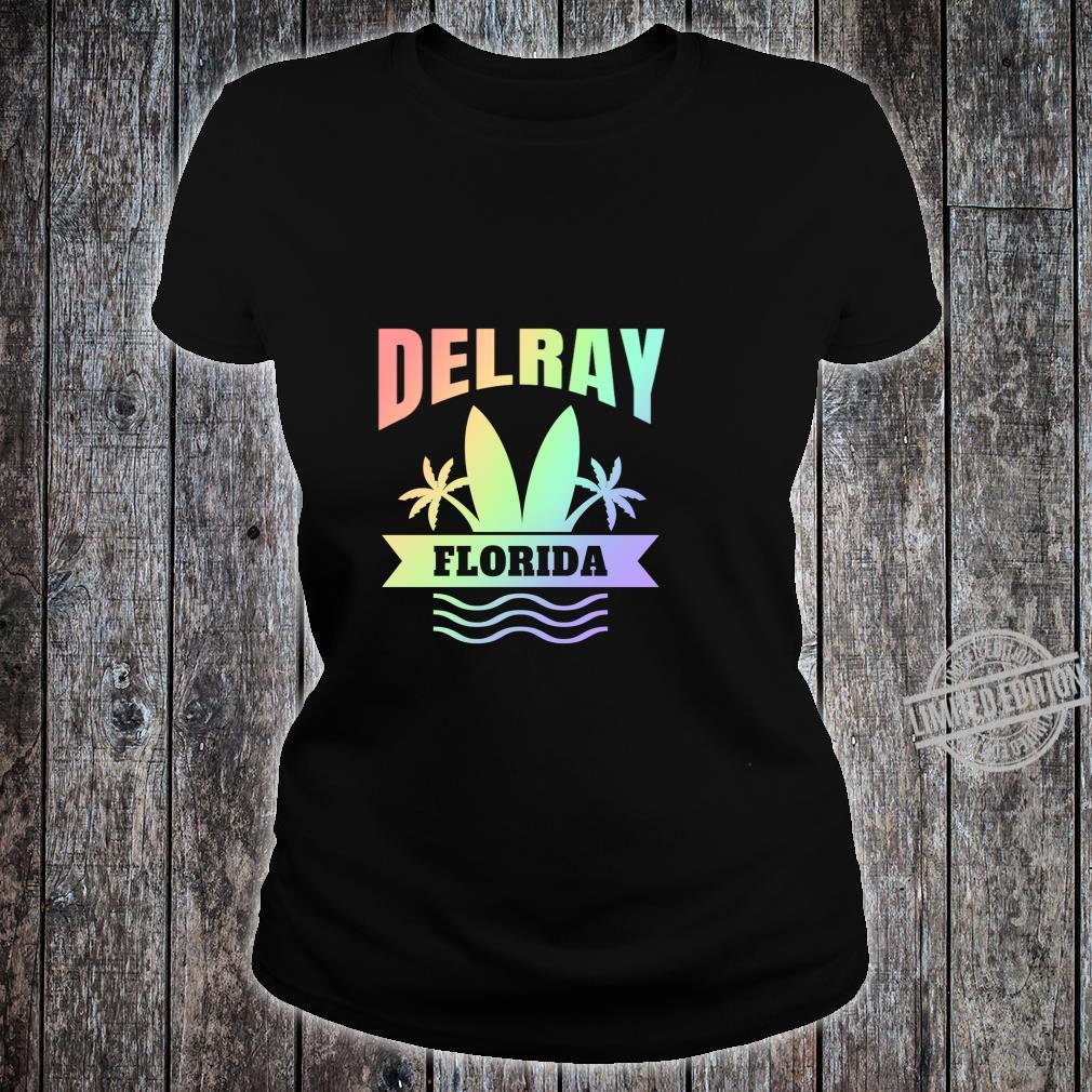 Delray Beach Florida Vacation Shirt ladies tee