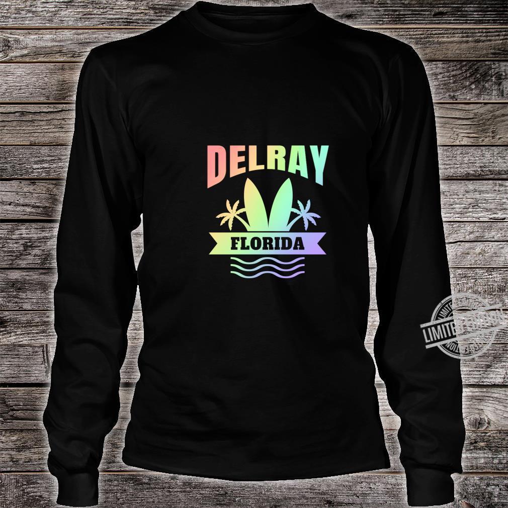 Delray Beach Florida Vacation Shirt long sleeved