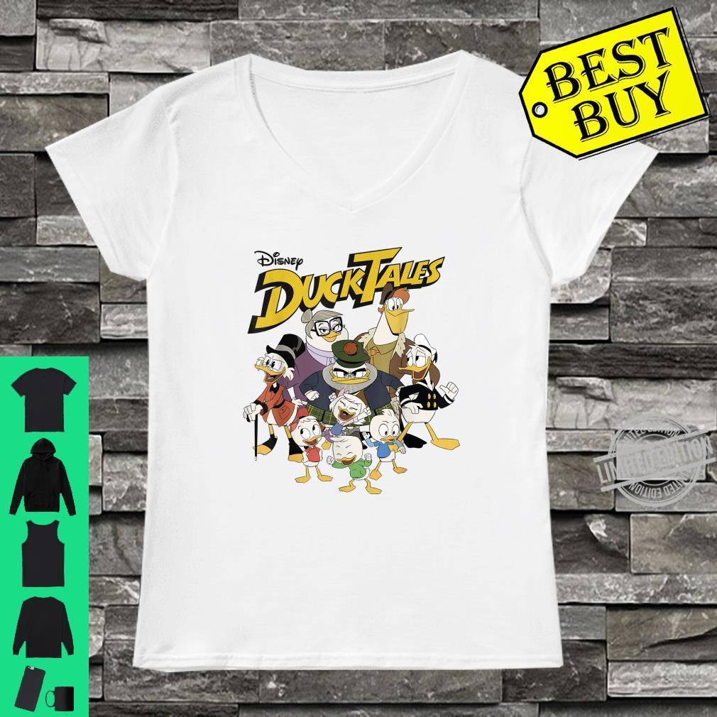 Disney DuckTales Modern Group Shot Logo Shirt ladies tee