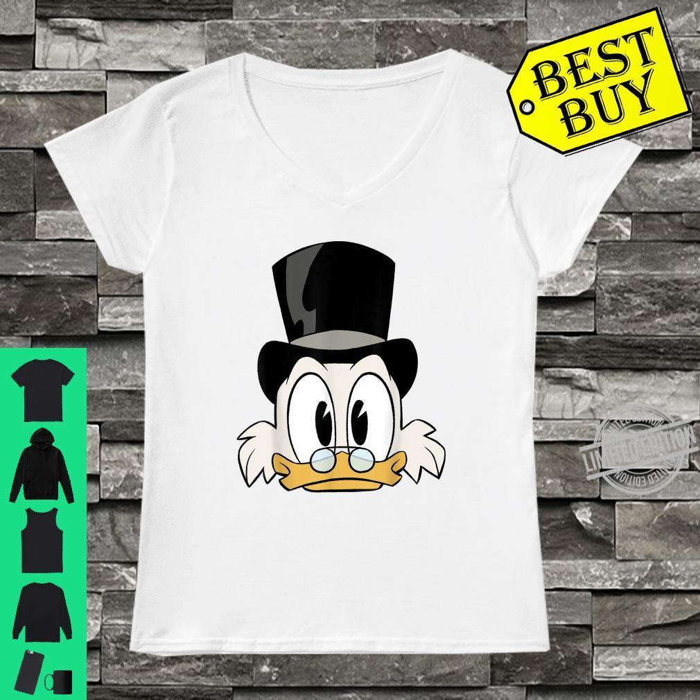 Disney DuckTales Scrooge McDuck Big Face Shirt ladies tee