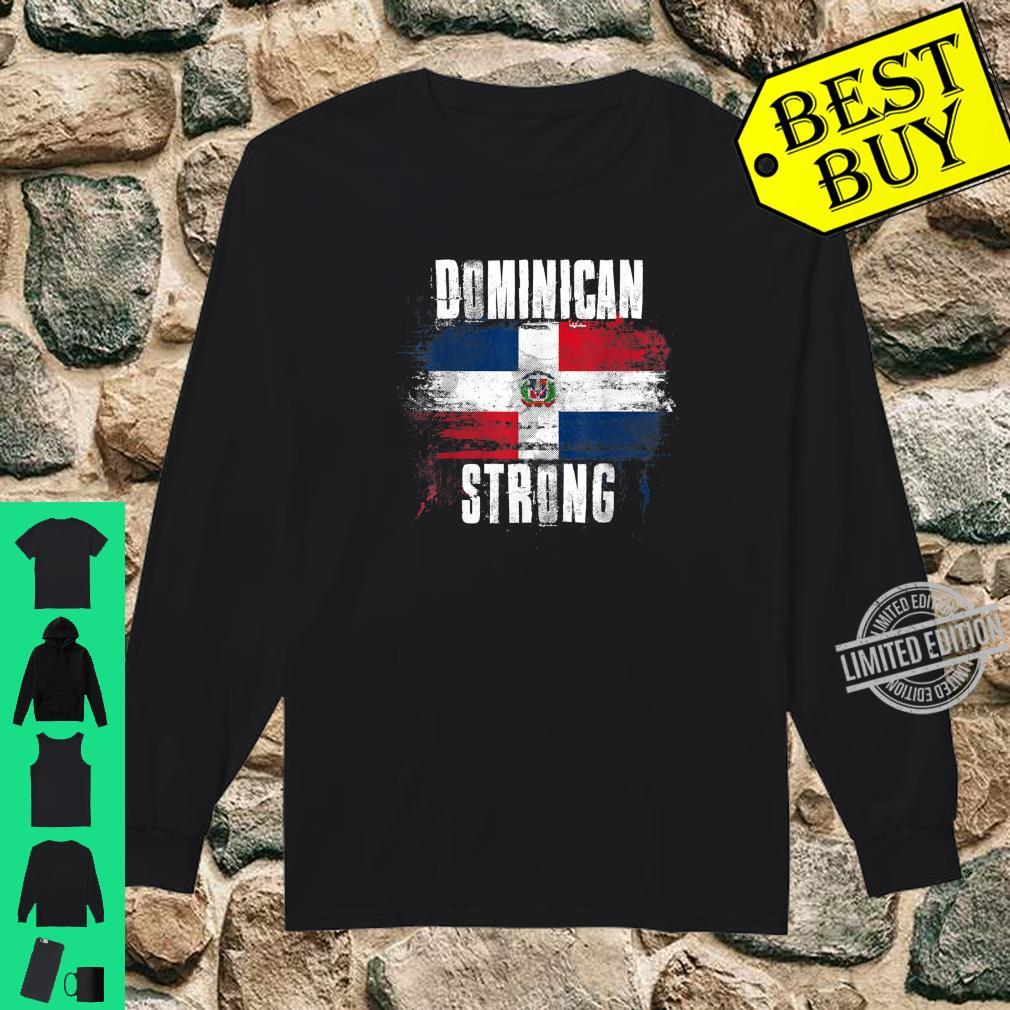 Dominican Republic Strong Distressed Flag Dominican Pride Shirt long sleeved