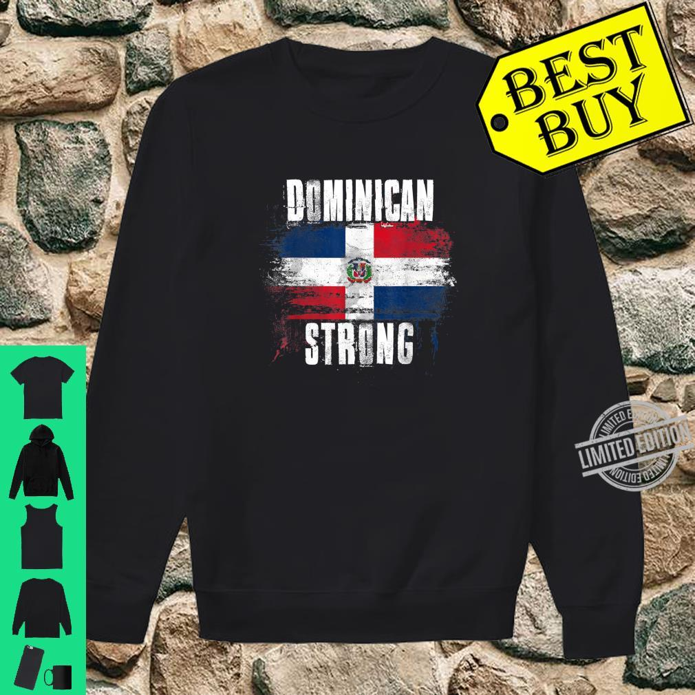 Dominican Republic Strong Distressed Flag Dominican Pride Shirt sweater