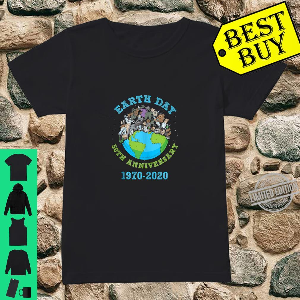 Earth Day 2020 50th Anniversary Climate Change Shirt ladies tee