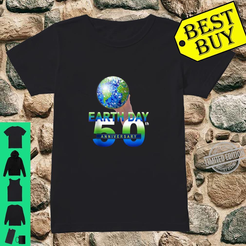 Earth Day 50th Anniversary Planet Earth Shirt ladies tee