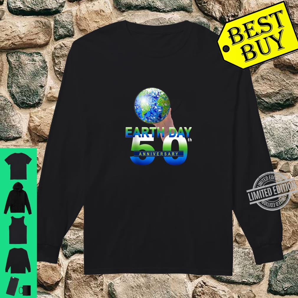 Earth Day 50th Anniversary Planet Earth Shirt long sleeved