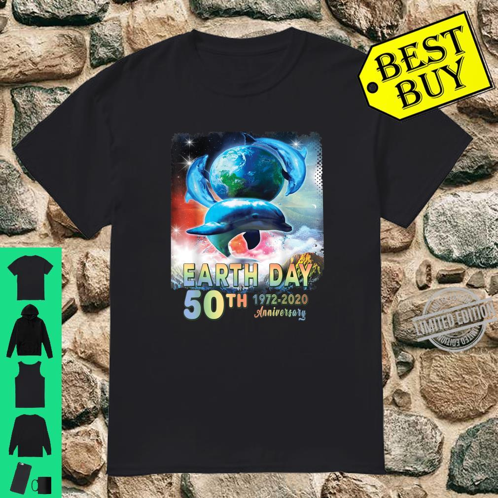 Earth Day 50th Anniversary Save The Dolphins Retro Shirt