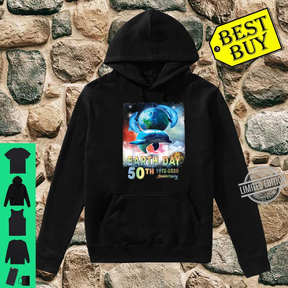 Earth Day 50th Anniversary Save The Dolphins Retro Shirt hoodie