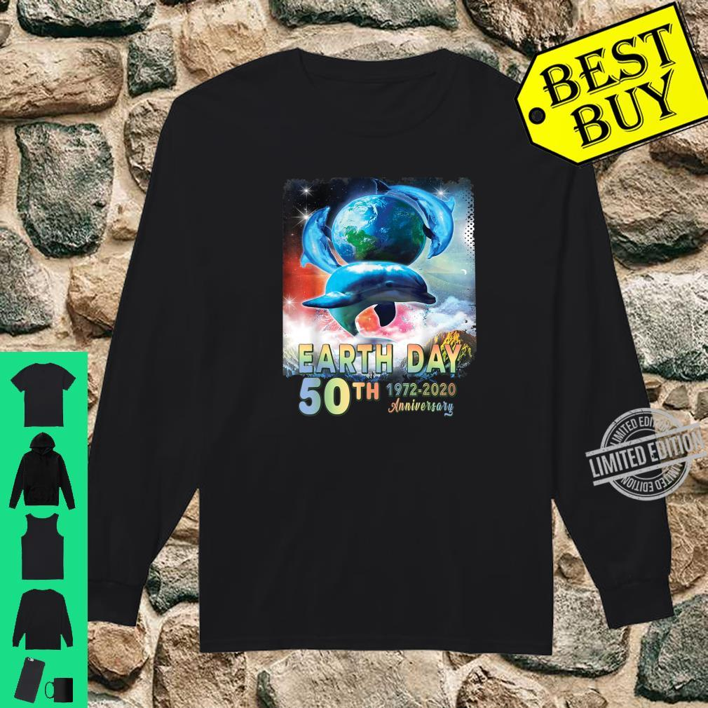 Earth Day 50th Anniversary Save The Dolphins Retro Shirt long sleeved