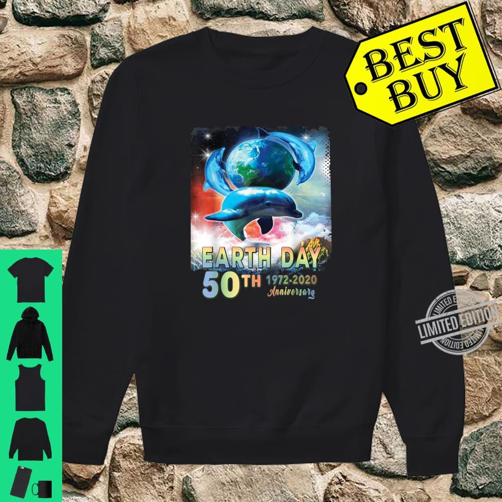Earth Day 50th Anniversary Save The Dolphins Retro Shirt sweater