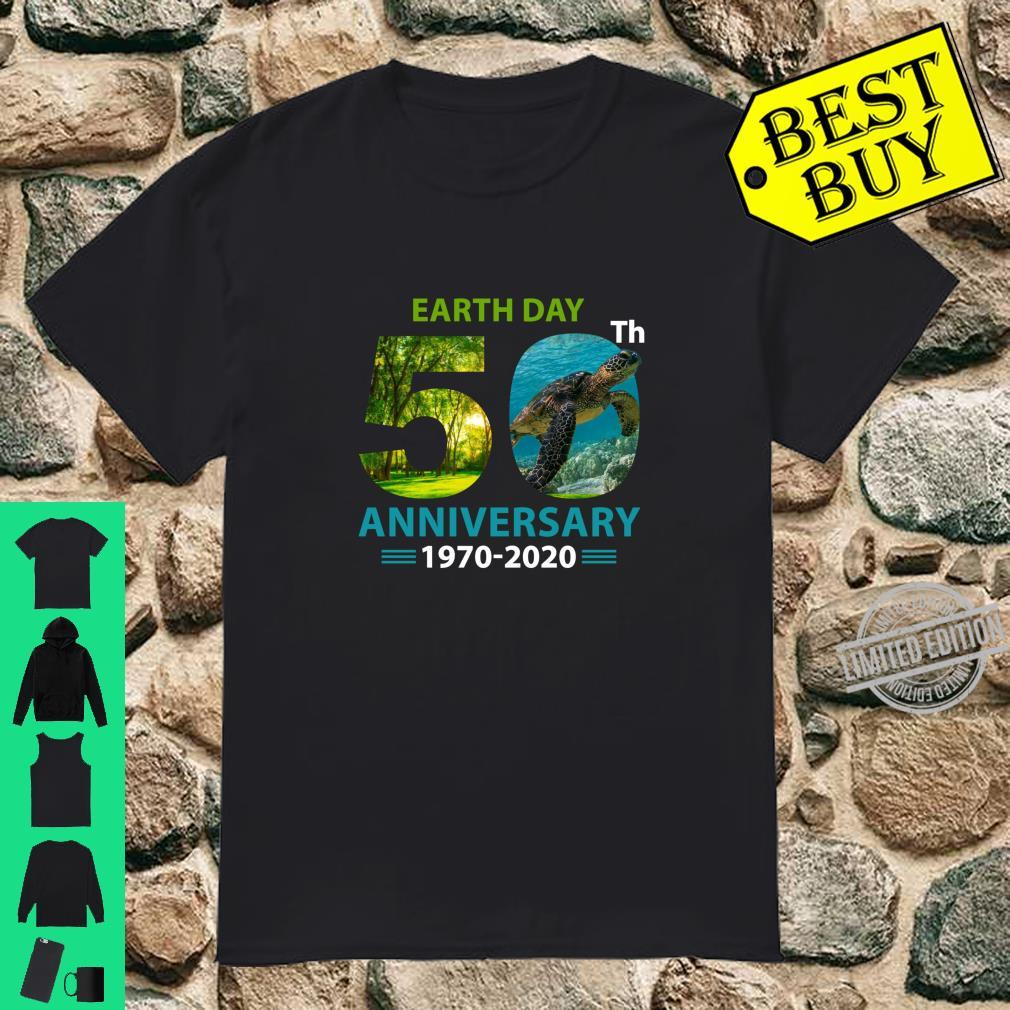 Earth Day 50th Anniversary Tree And Turtle Shirt