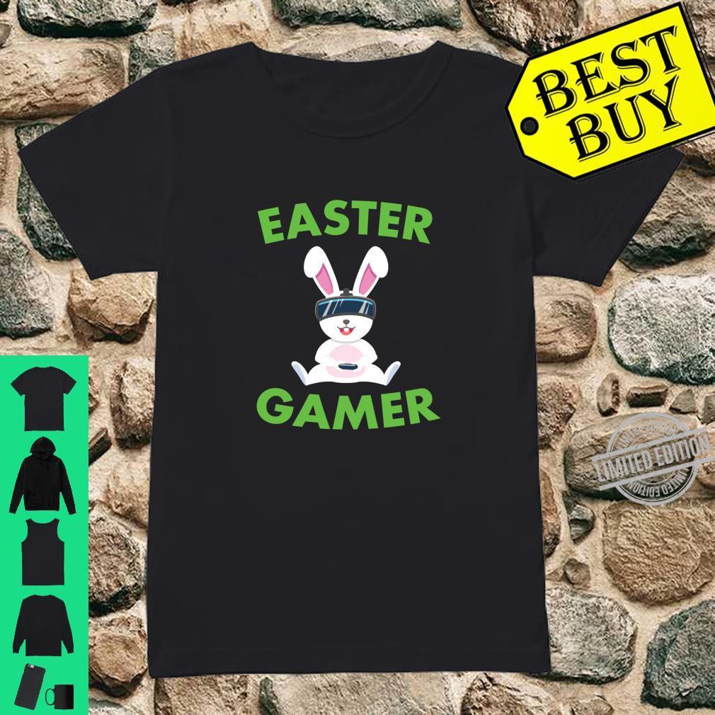 Easter Bunny Gamer VR Video Gaming Shirt ladies tee