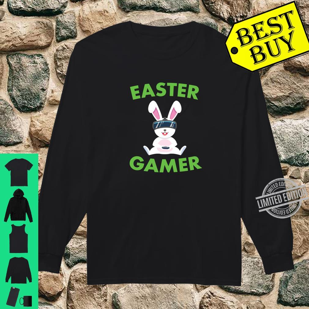 Easter Bunny Gamer VR Video Gaming Shirt long sleeved
