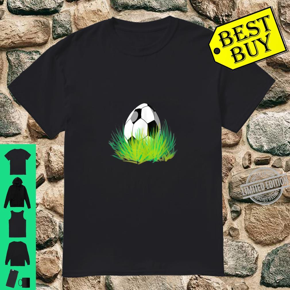 Easter Soccer Bunny Ears Egg Shirt