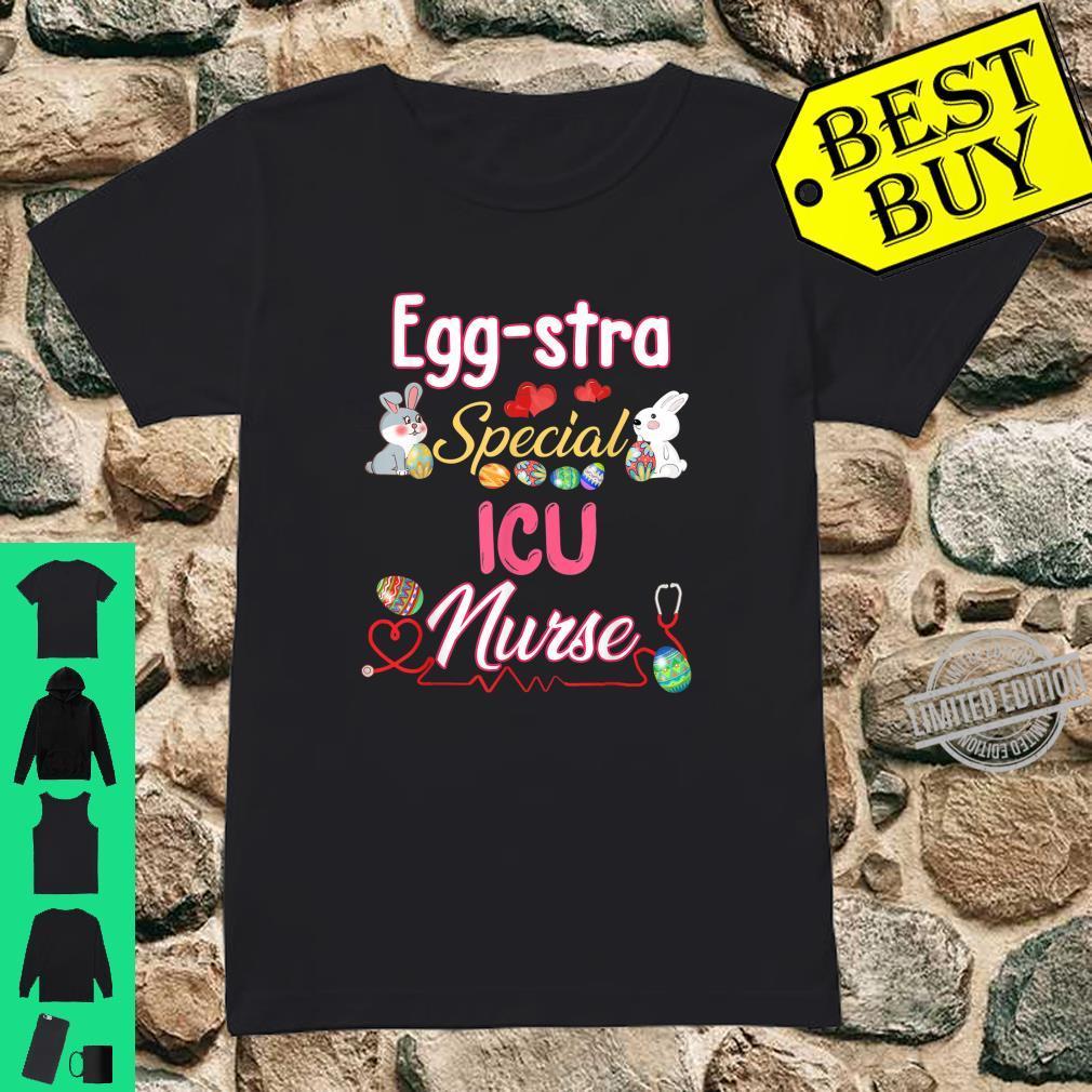 Eggstra Special ICU Easter Bunny Rabbit Eggs Shirt ladies tee