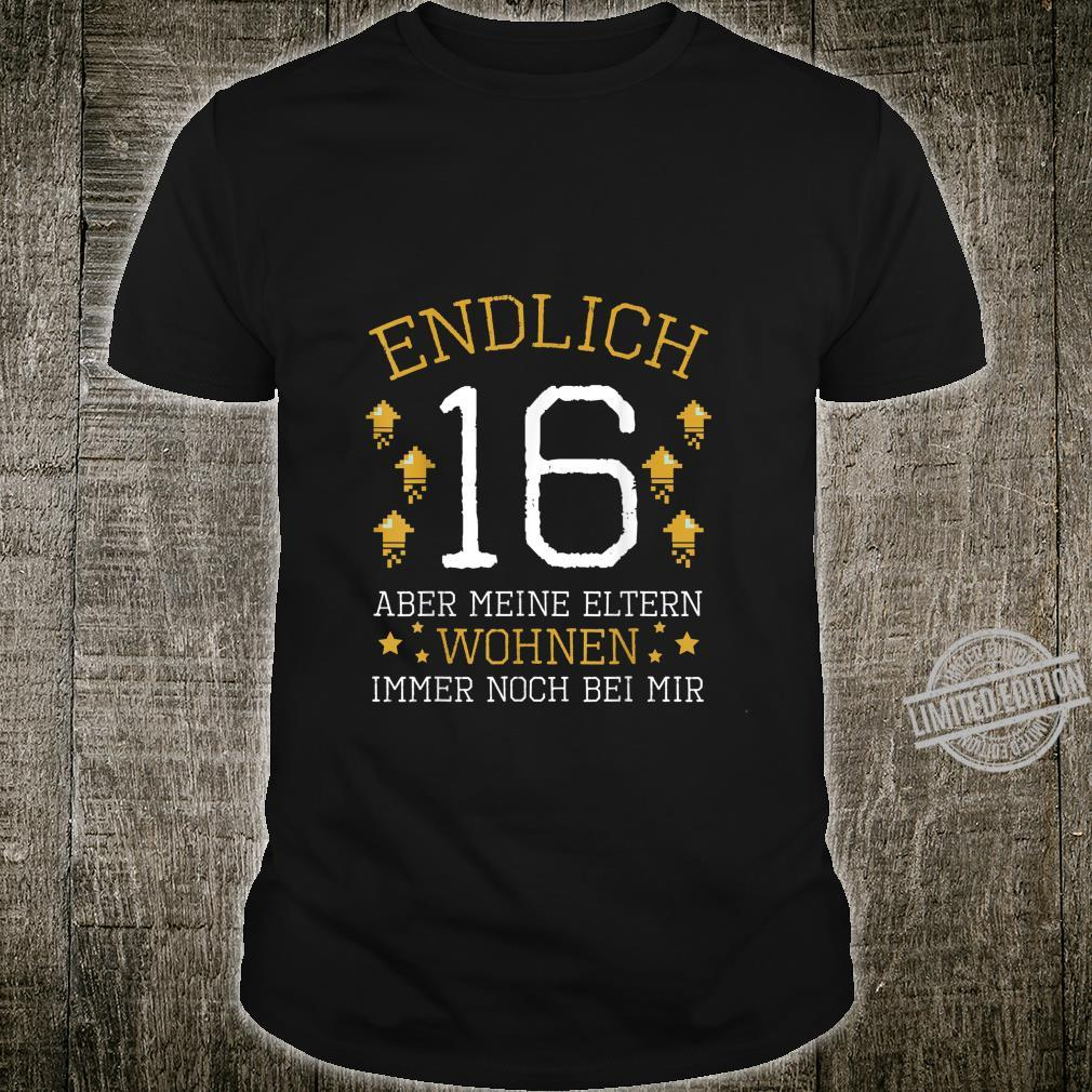 Endlich 16 Years Old 2004 Birthday Party Celebration Shirt