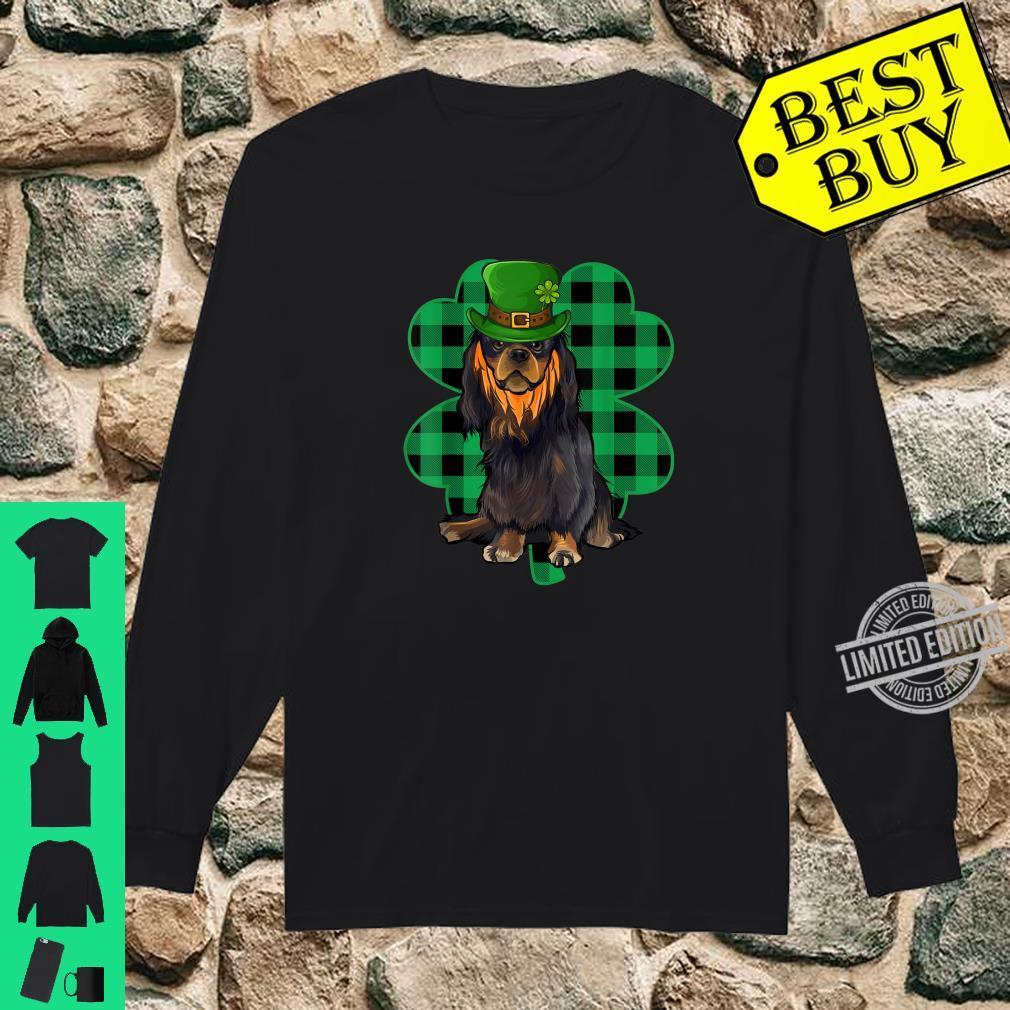 English Toy Spaniel Leprechaun St Patricks Day Lucky Clover Shirt long sleeved