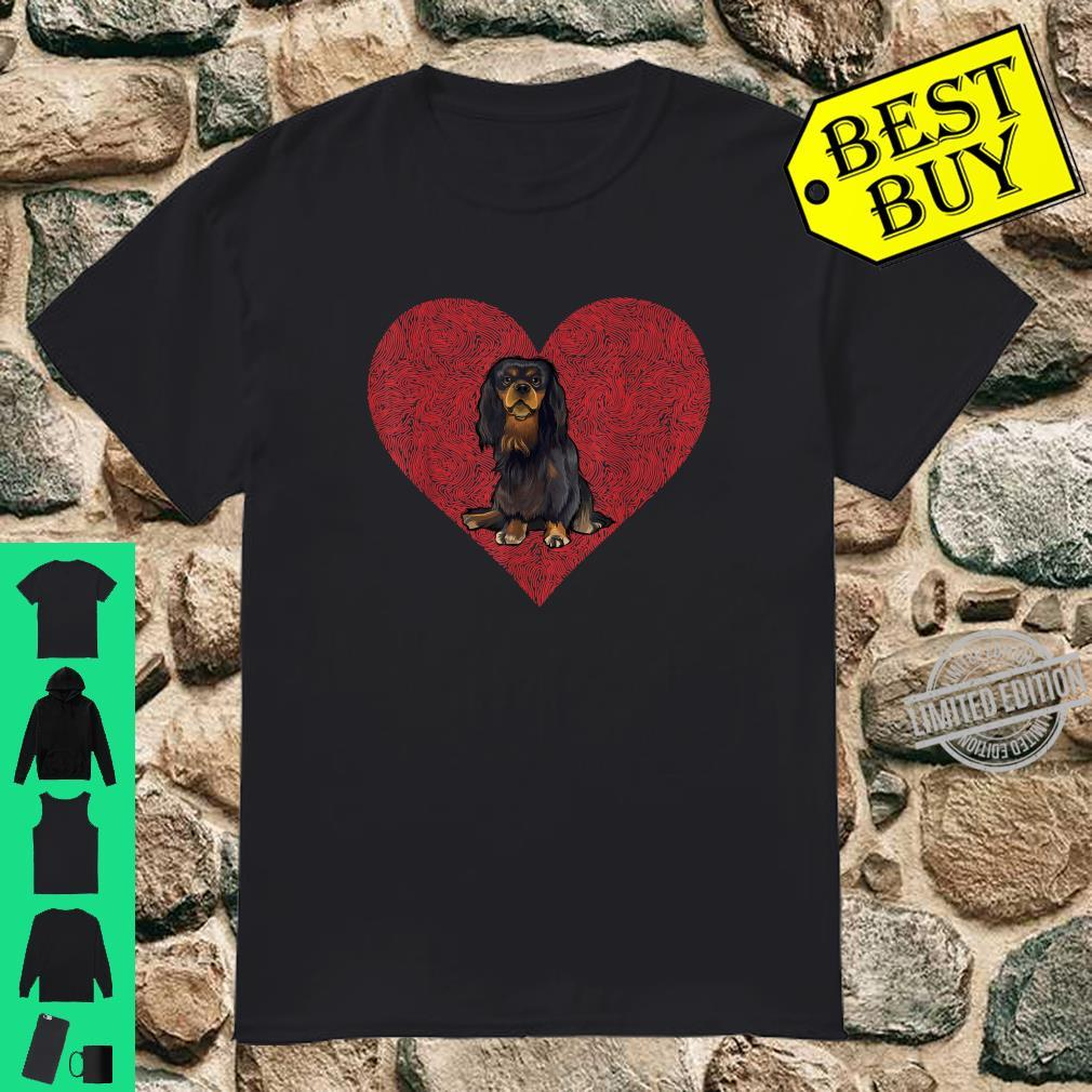 English Toy Spaniel Valentines Day Dog Love Fingerprint Shirt