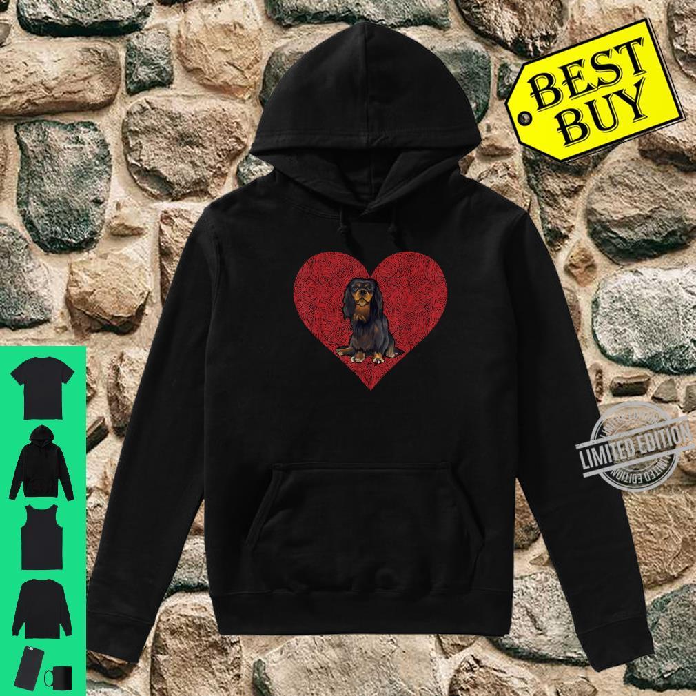 English Toy Spaniel Valentines Day Dog Love Fingerprint Shirt hoodie
