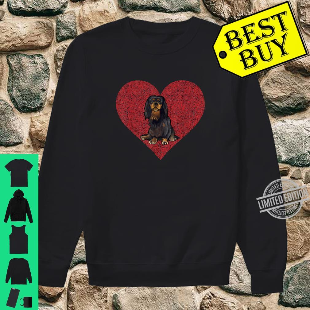 English Toy Spaniel Valentines Day Dog Love Fingerprint Shirt sweater