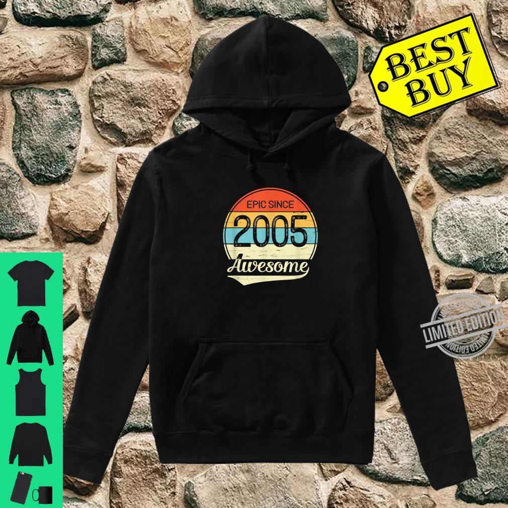 Epic Since 2005 Awesome 15th Birthday 15 Year Old Shirt hoodie