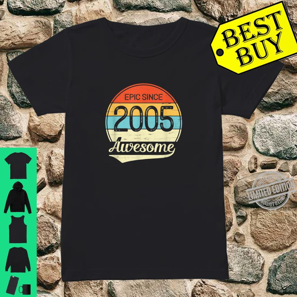 Epic Since 2005 Awesome 15th Birthday 15 Year Old Shirt ladies tee