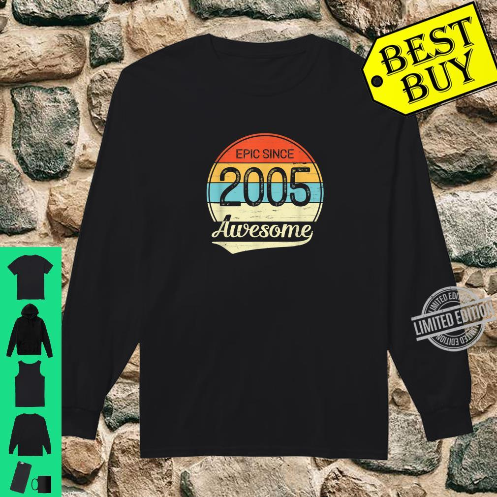 Epic Since 2005 Awesome 15th Birthday 15 Year Old Shirt long sleeved