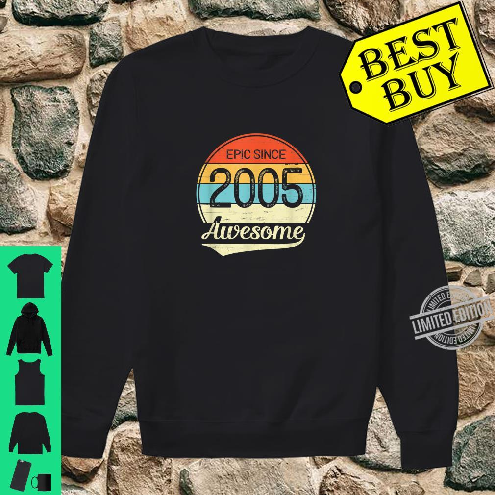 Epic Since 2005 Awesome 15th Birthday 15 Year Old Shirt sweater